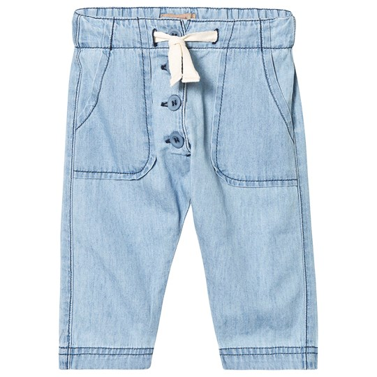 Emile et Ida Washed Chambray Pants Bleach Bleach