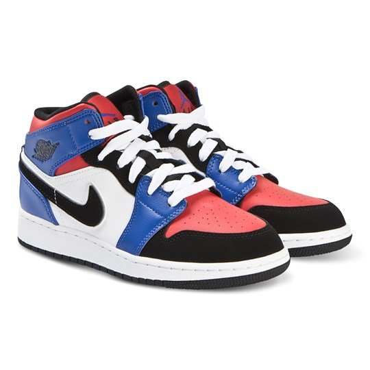 Air Jordan Blue and Red Air Jordan Full-Court Hi Tops 124