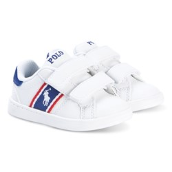 Ralph Lauren White Pony Quigley EZ Leather Trainers