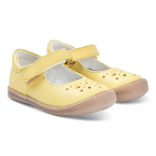 Primigi Mustard Brogue Leather Mary Janes Giallo