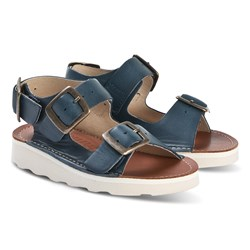 Young Soles Navy Spike Buckle Sandals