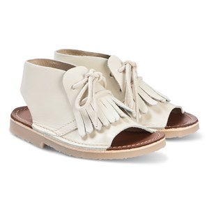 Image of Young Soles Agnes Kited Boot Sandals Vanilla 21 (UK 4.5) (3128687075)