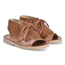 Young Soles Agnes Kited Boot Sandaler Tan