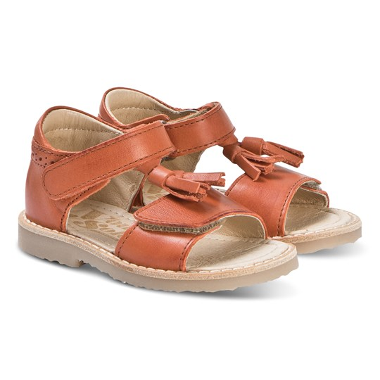 Young Soles Brown Tassle Flo Sandals MARMALADE