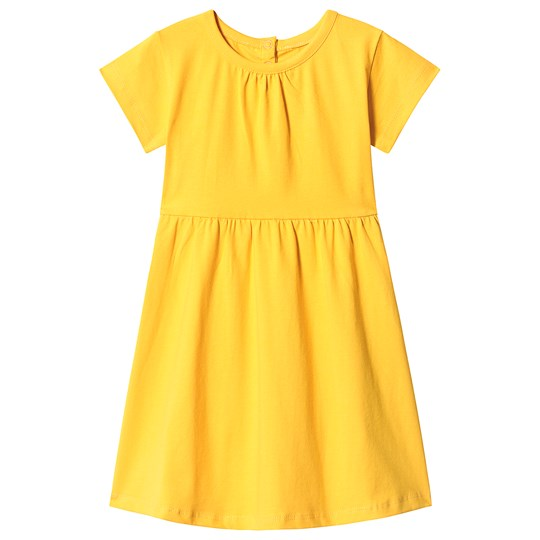 A Happy Brand Short Sleeve Dress Yellow