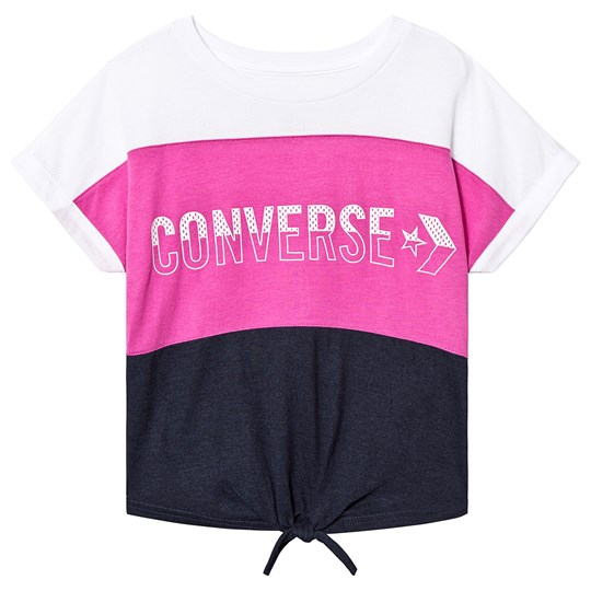 Converse Color Block Mesh Tee Pink A9X