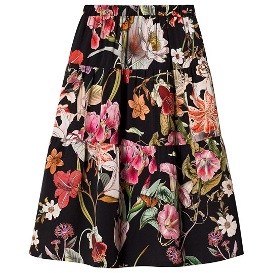 Christina Rohde Floral Skirt Black Black