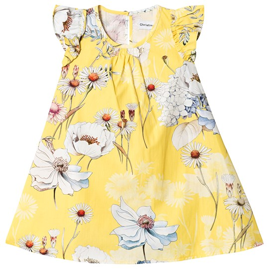 Christina Rohde Floral Dress Yellow Yellow