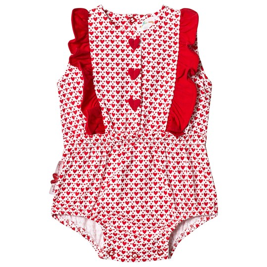Agatha Ruiz de la Prada Red Heart Ruffle Detail Bubble R00