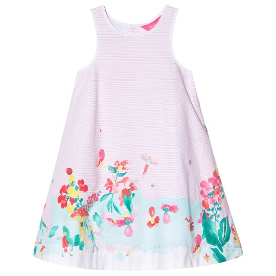 Tom Joule Pink and White Stripe Fairy Print Woven Dress Fairy Border