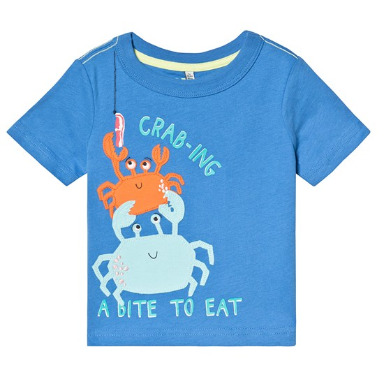 Tom Joule Blue Crab Applique Tee Blue Crabing A Bite