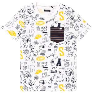 Image of IKKS All Over Print Tee White 10 years (3129563807)
