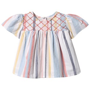 Image of Velveteen Asha Embroidered top Multi Stripe 12 months (3129562363)