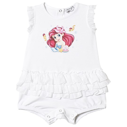 Monnalisa Little Mermaid Frill Romper Hvid 99