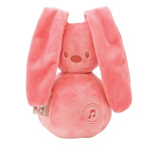 Image of Nattou Lapidou Musical Bunny Coral One Size (1351899)