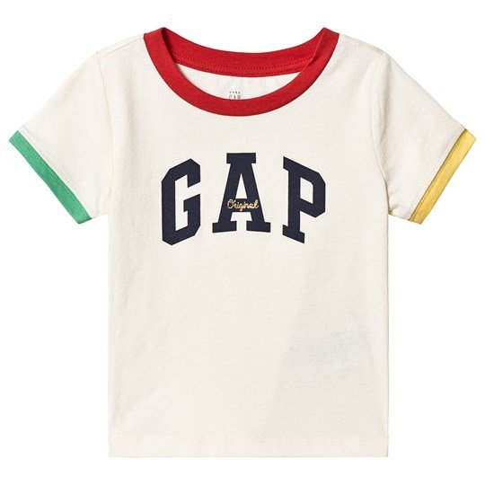 Gap Colorblock Logo T-shirt Ivory Frost IVORY FROST