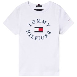Tommy Hilfiger White Essential Branded Graphic Tee