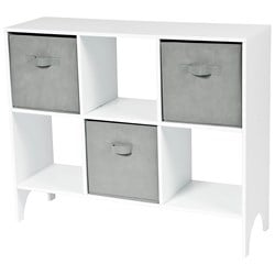 JOX Shelf with 6 compartments incl 3 Grey boxes