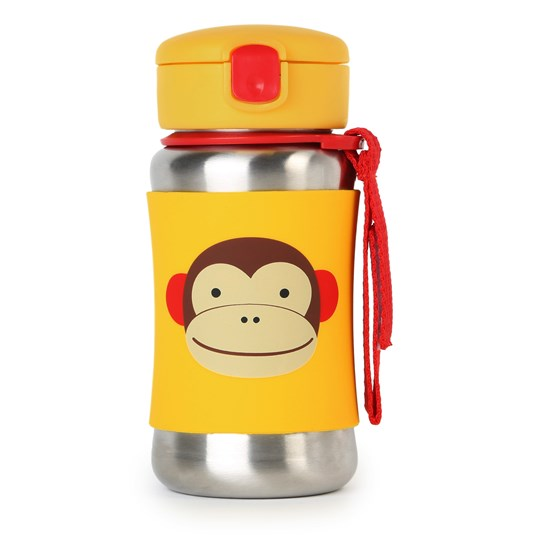 Skip Hop Zoo Stainless Steel Straw Bottle Monkey Monkey
