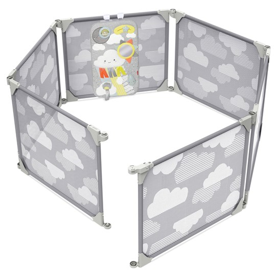 Skip Hop Playview Expandable Enclosure Silver Lining Silver