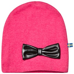 The BRAND Bow Beanie Pink melange