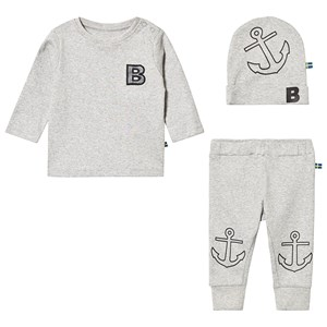 Image of The BRAND Tee and Pant Baby Set Grey Melange 92/98 cm (3131978853)
