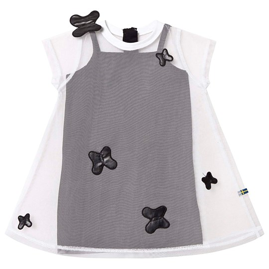 The BRAND Butterfly Tulle Dress White/Black