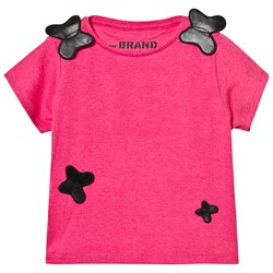 The BRAND Butterfly Tee Pink Melange