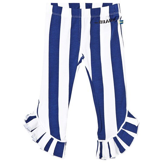The BRAND Flounce Leggings Blue Stripe