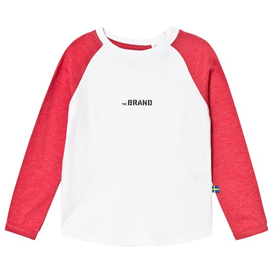 The BRAND LS RAGLAN TEE RED MELANGE