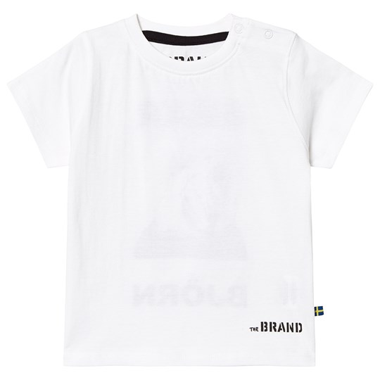 The BRAND BEAR TEE WHITE