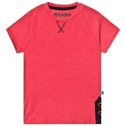 The BRAND Button Tee Red Melange