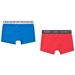 Tommy Hilfiger Branded Trunks 2-Pack Poinsettia and Directoire Blue