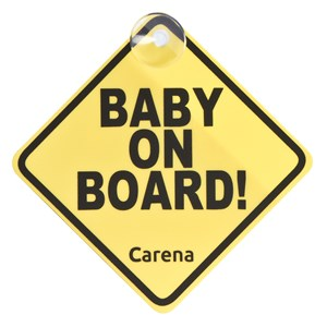 Image of Carena Baby On Board-Skilt Gul One Size (1265220)