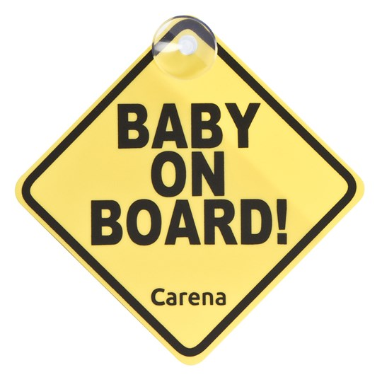 Carena Baby On Board Skylt Gul