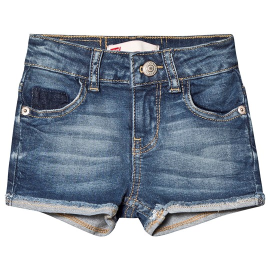 Levis Kids Turn-Up Shorts Blue Mid Wash 46