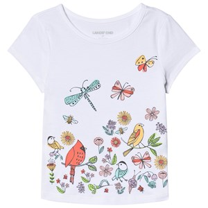 Image of Lands' End Birds and Butterflies Tee White 10-12 years (3132748713)