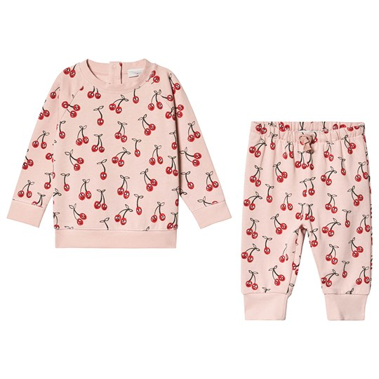 Stella McCartney Kids Pink Cherry All Over Print Tracksuit 5771 - Smiling Cherry On Pi