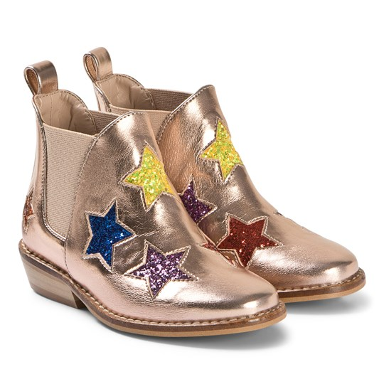 Stella McCartney Kids Pink Embroidered Stars Boots 5769 - Pearl Pink