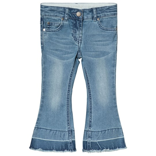 Stella McCartney Kids Blue Denim Wide Leg Jeans 4160 - Light Denim