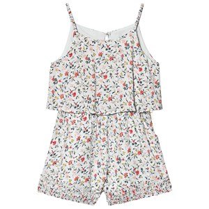 Image of Chloé Blue Ditsy Floral Print Romper med Ruched Hems 4 years (1233455)