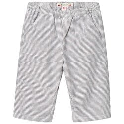 Bonpoint Black and White Check Trousers