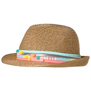 Image of Billieblush Straw Hat with Pom Pom Detail 54 (4-8 years) (3132746223)