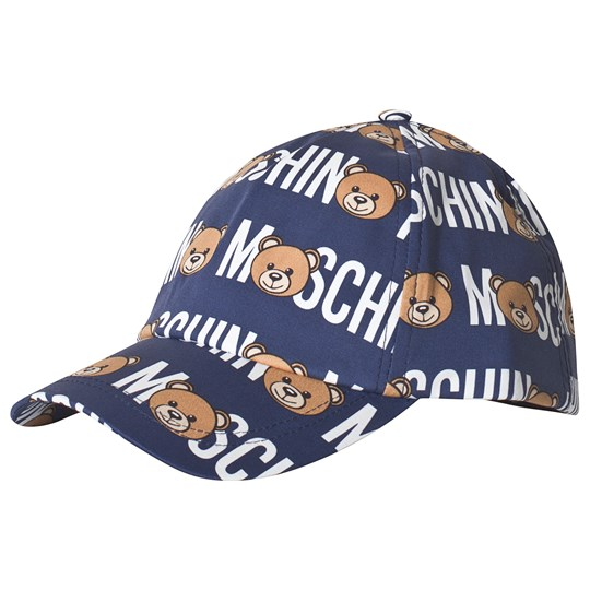 Moschino Kid-Teen Navy All Over Bear and Branded Cap 84006