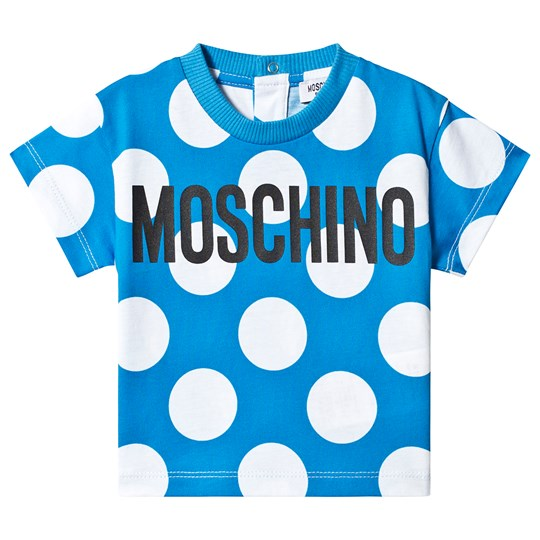 Moschino Kid-Teen Blue Spot Branded Tee 84221