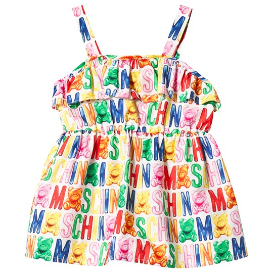 Moschino Kid-Teen Multi Colour Logo Cotton Dress 84000