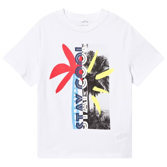 Stella McCartney Kids White Stay Cool Photo Print Tee 9082 - White