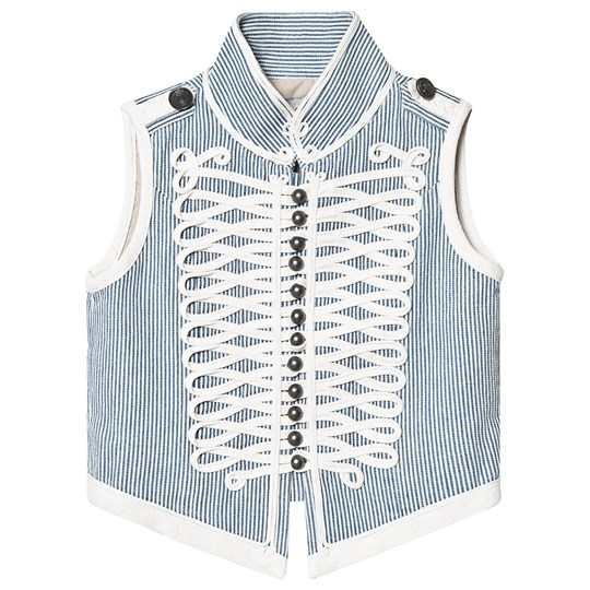 Stella McCartney Kids Blue Striped Gilet 4761 - Stripes