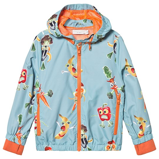 Stella McCartney Kids Blue Veggie People Print Windbreaker 4763 - Veg People On 10 Bas