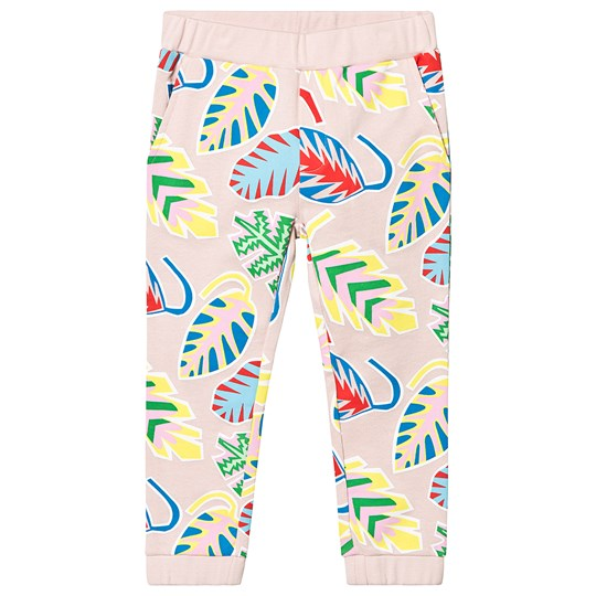 Stella McCartney Kids Pink Leaf Palm All Over Print Trousers 6643 - Summer Leafpalm On 1